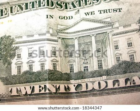 Back of Twenty Dollar Bill - stock photo