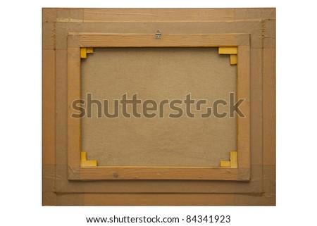 back vintage old frame canvas stock photo royalty free 84341923