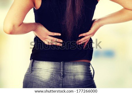 Back pain concept. - stock photo