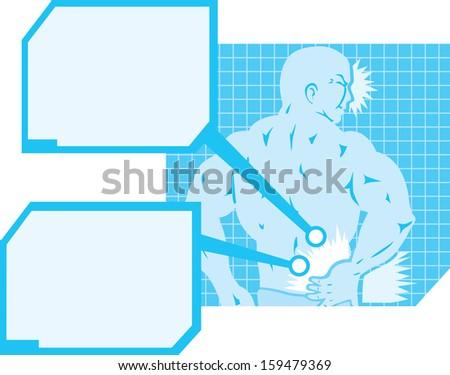 Back Pain Diagram Stock Illustration 159479369 Shutterstock