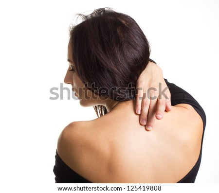 Back pain.Medical theme.Patient role - stock photo