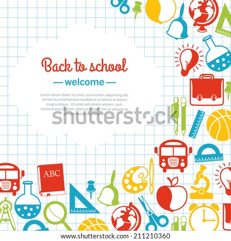 back to school background for school - stock photo