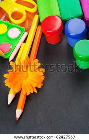 Back to school, background with copy space. - stock photo
