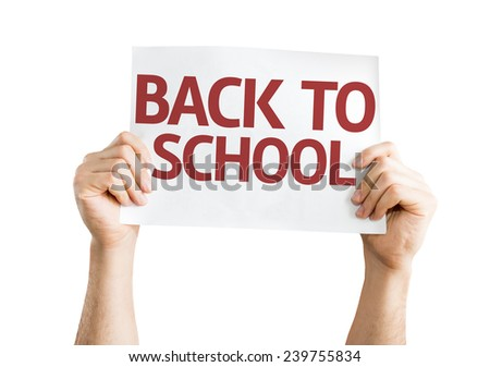 Back to School card isolated on white background  - stock photo