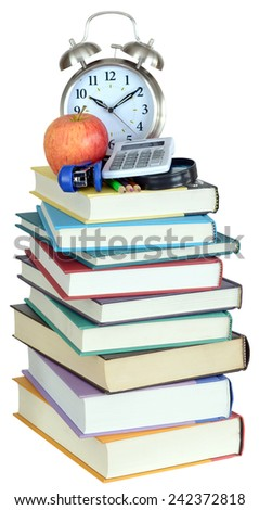 back to school concept with book and accessories  - stock photo