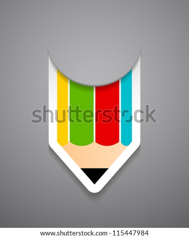 Back to school creative card. Check my portfolio for vector version. - stock photo