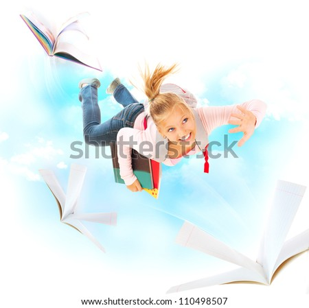 Back to School. Education Concept. Isolated on a White Background