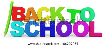 back to school - high quality 3d illustration - stock photo