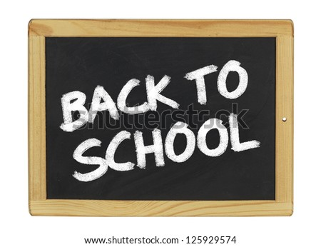 back to school on a blackboard