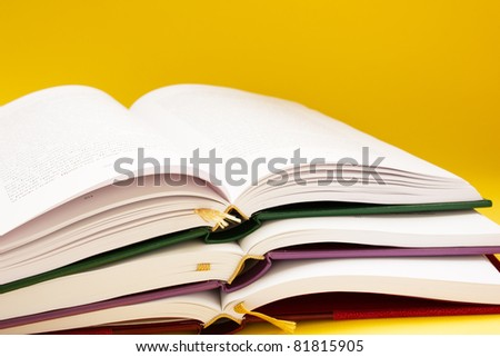 back to school - pile of books
