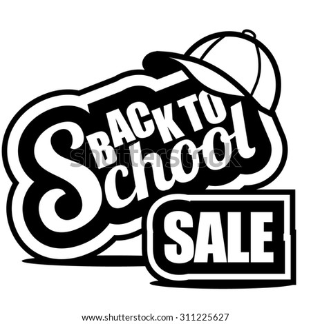 Back to School sale icon. Illustration for greeting card, ad, promotion, poster, flier, blog, article, social media, marketing