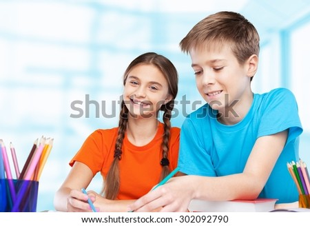 Back to school, school, classroom. - stock photo