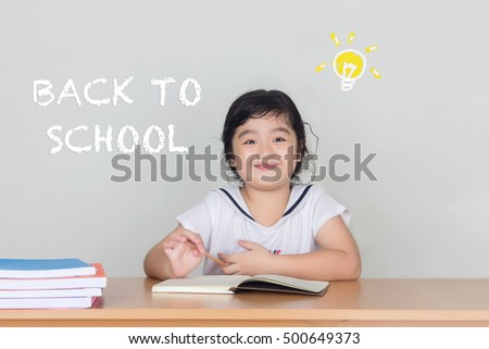 Back to school. Schoolchild in class. School kid in classroom. Education and creativity concept