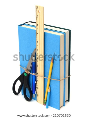 Back to school, supplies - stock photo