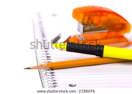 Back to school supplies - stock photo