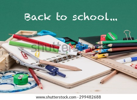 back to school template - stock photo