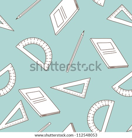 Back to school theme seamless background.