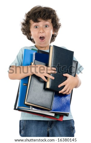 Back to school. There is a lot of work to be done! - stock photo