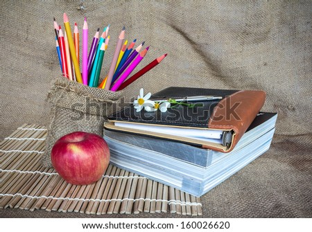 Back to school. To study - stock photo