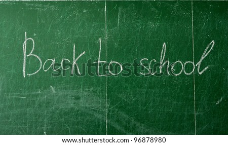 Back To School with white chalk - stock photo