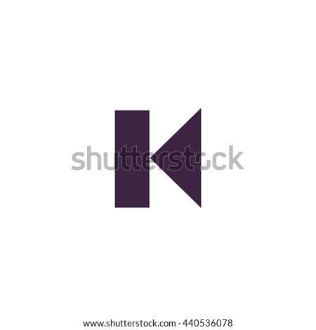 Back Track arrow Media player control button. Simple blue icon on white background - stock photo