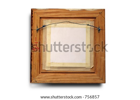 back view of a picture frame. Clipping path included.