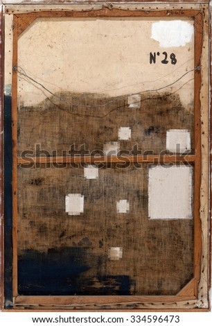 Back view of abstract grunge canvas texture background