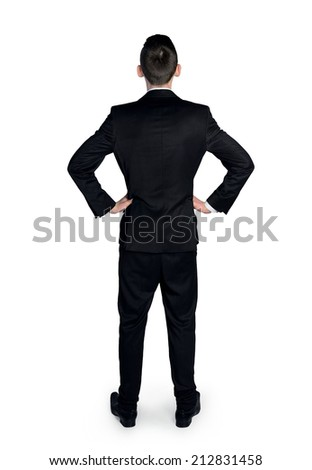 Back view of business man - stock photo