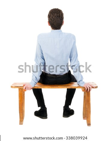 person sitting in chair back view png. Back View Of Business Man Sitting On Chair. Businessman Watching. Rear People Collection Person In Chair Png