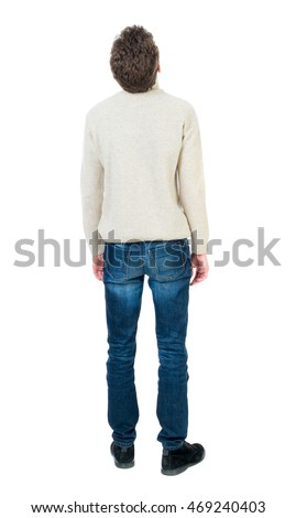 back view man standing young guy の写真素材 今すぐ編集 469240403