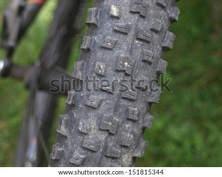 back wheel from a MTB - stock photo