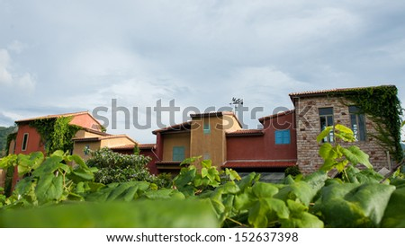 Back yard of Primo Posto, Khaoyai, Thailand - stock photo