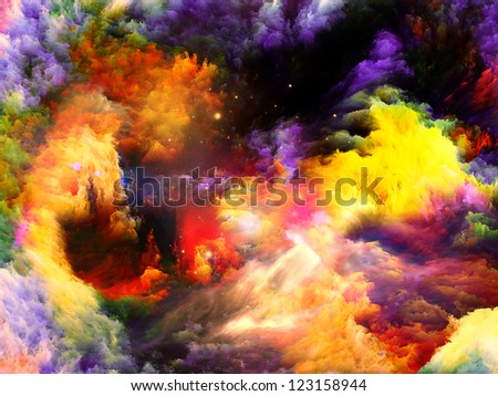 Backdrop composed of dreamy forms and colors and suitable for use in the projects on dream, imagination, fantasy and abstract art - stock photo