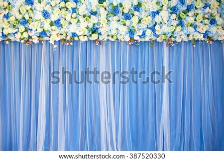 backdrop for wedding photography - stock photo