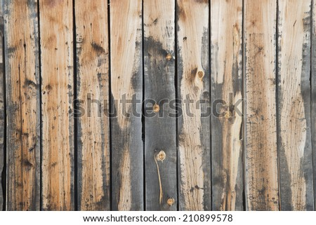 Backdrop of old retro vintage style wooden yellow or brown board background - stock photo