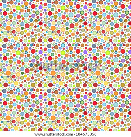 backdrop with round colored bubble pattern on white - stock photo