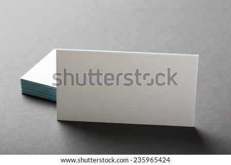 backed paper blank business cards on the stack - stock photo