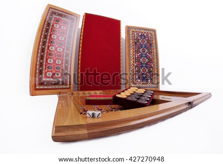 backgammon backgammon game board isolated over white color detail of a backgammon game with - Backgammon Game