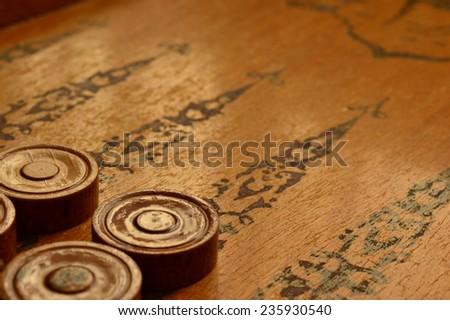 Backgammon game background - stock photo