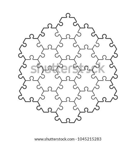 Backgriound Hexahedron Puzzle Pattern Hexagon Puzzle Stock ...