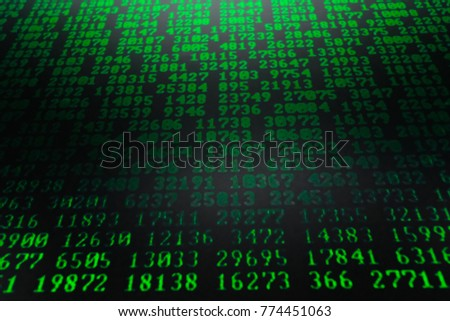 Background a matrix style. Computer virus and hacker screen wallpaper. Green is dominant color.