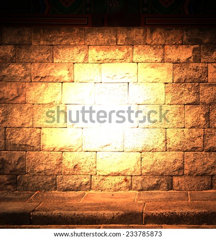 background abstract,brick wall texture with flare light same nightmare