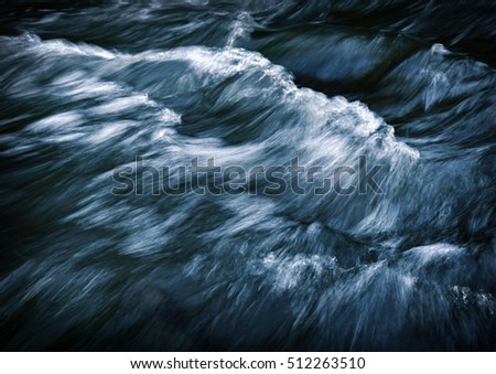 background abstract dark waves on the river