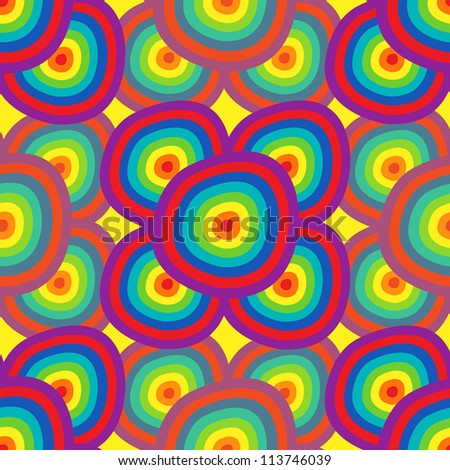 Background abstraction - a seamless pattern in the colors of the rainbow.