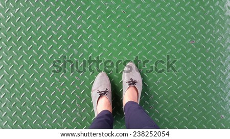 background accessories green closeup color shoes style - stock photo