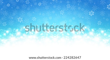 Background and light snow