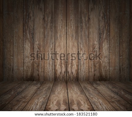 background and texture concept - wooden floor and wall