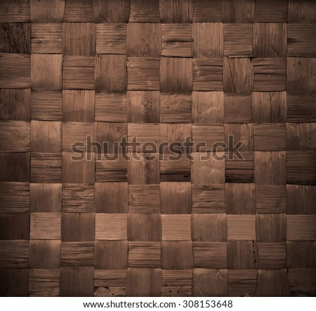 background and texture of brown handicraft weave banana fiber surface - stock photo