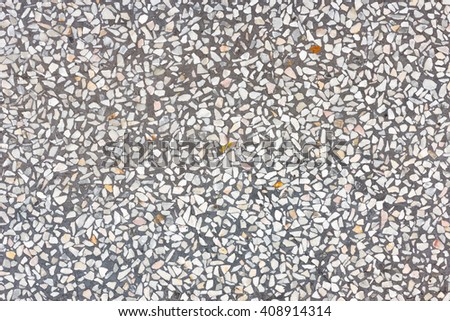 Background And Texture Of Decorarive Gray Terrazzo Floor - stock photo