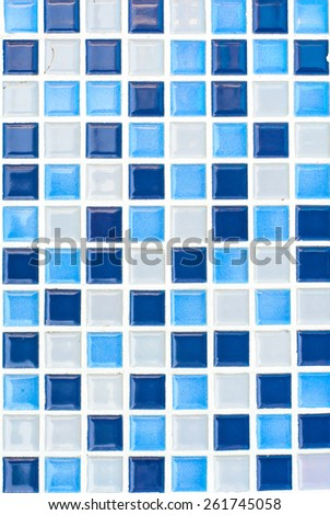 Background and texture of mosaic in the swimming pool